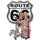 Route 66 Gas Pump Pinup